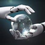 robot hands crystal ball