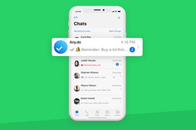 WhatsApp Any.do integration