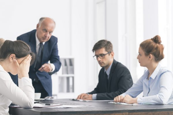 Uncomfortable board meeting