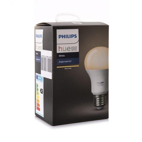 SWINDON, UK - DECEMBER 30, 2017: Philips Hue White E27 Smart Bulb, personal wirless lighting