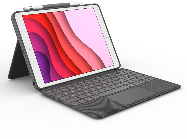 تحتوي حقيبة Logitech Combo Touch لأجهزة iPad على لوحة مفاتيح قابلة للفصل ولوحة تتبع مدمجة 2