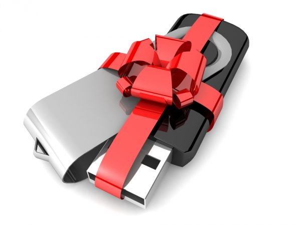 Giftwrapped USB