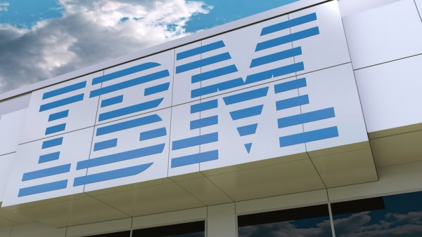 IBM logo clouds