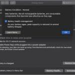 Apple battery health management