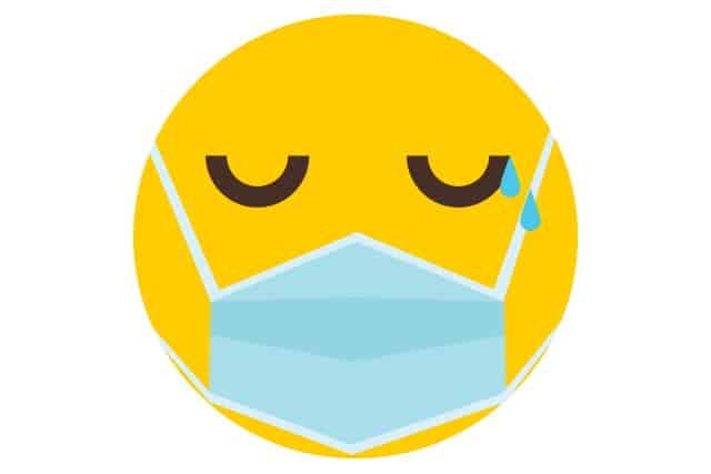 Sad masked emoji
