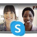 Skype on laptop