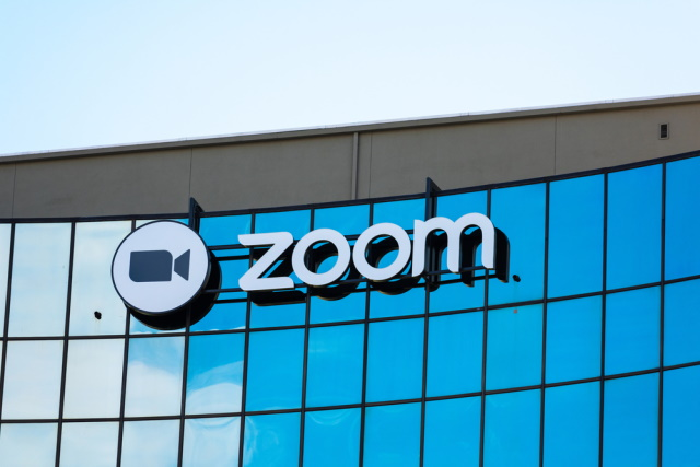 Zoom logo on a building
