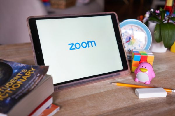 Zoom on a tablet