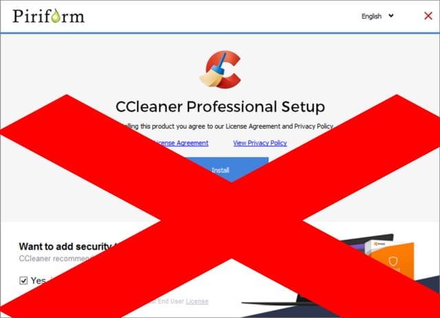 CCleaner PUA