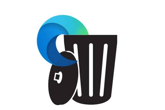 Edge icon in trash bin