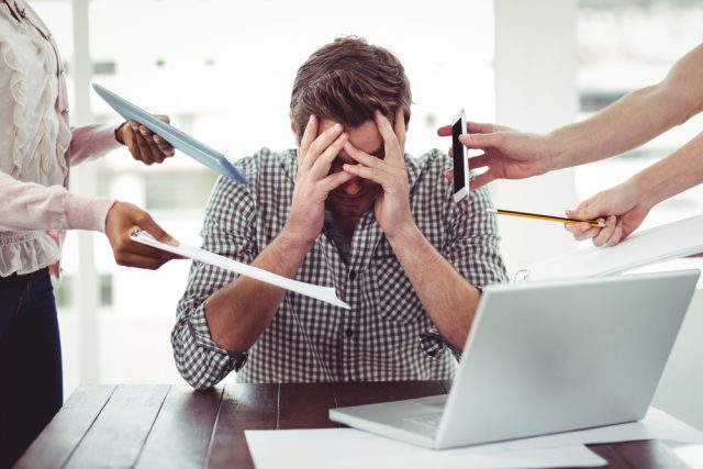 stressed overwork pressure