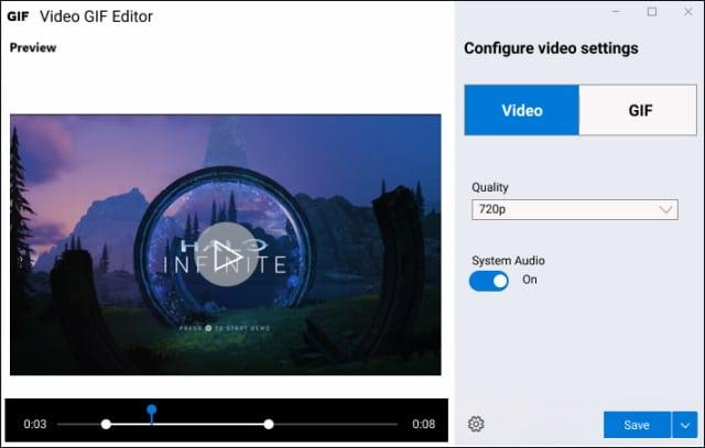 Microsoft Video GIF Capture PowerToy