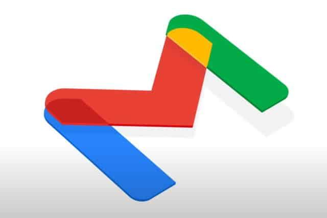 New Gmail logo angled