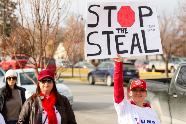 Stop the Steal placard