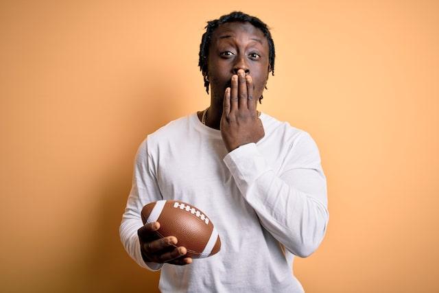 Football man mouth