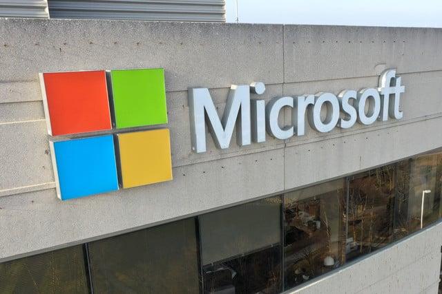 Microsoft building logo