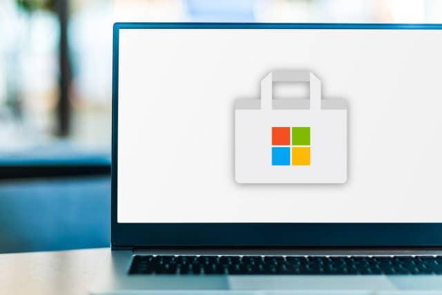 Microsoft Store on laptop