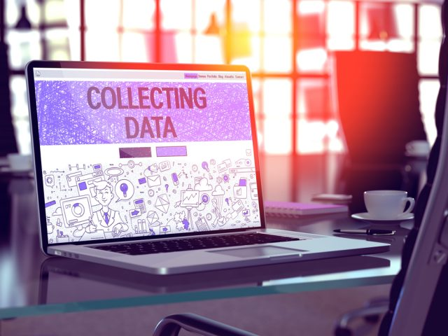 Laptop collecting data