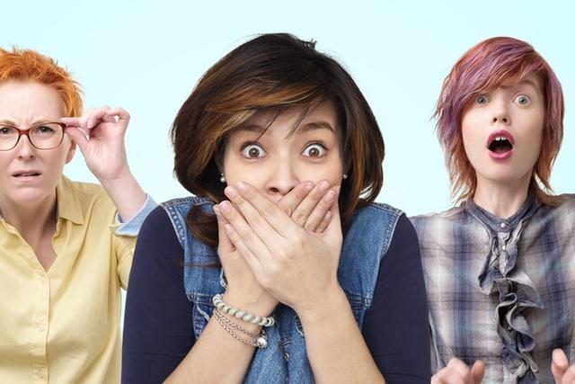 Surprised faces