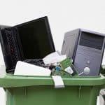 Scrap computers bin