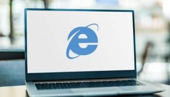 Internet Explorer on a laptop