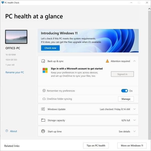 PC-Gesundheitscheck
