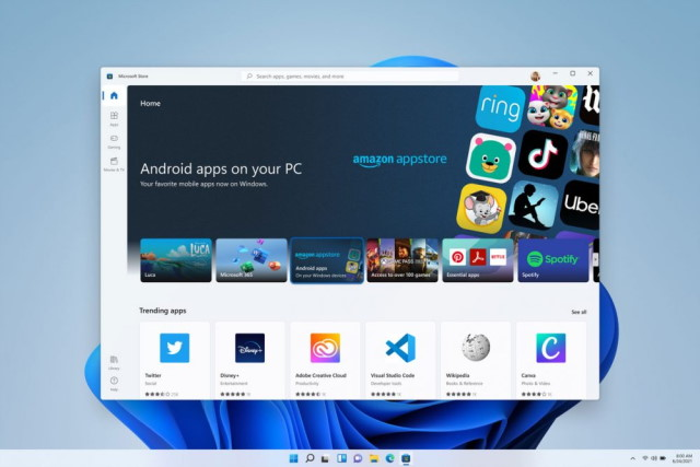 Android apps in Windows 11