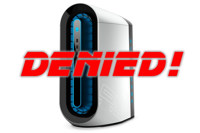 Alienware denied