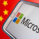 Microsoft logo Chinese flag