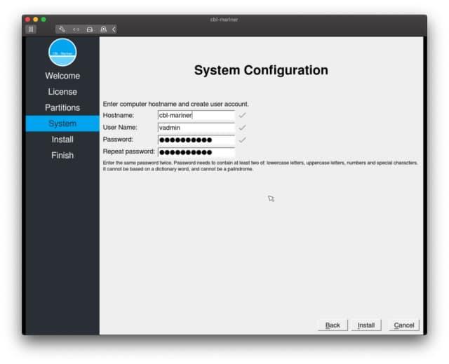 Microsoft CBL-Mariner Linux-Distribution