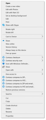 Kontextmenü von Windows 10