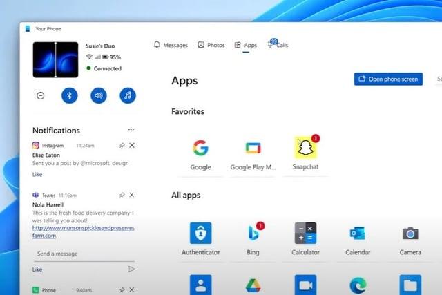 Windows 11 Your Phone too