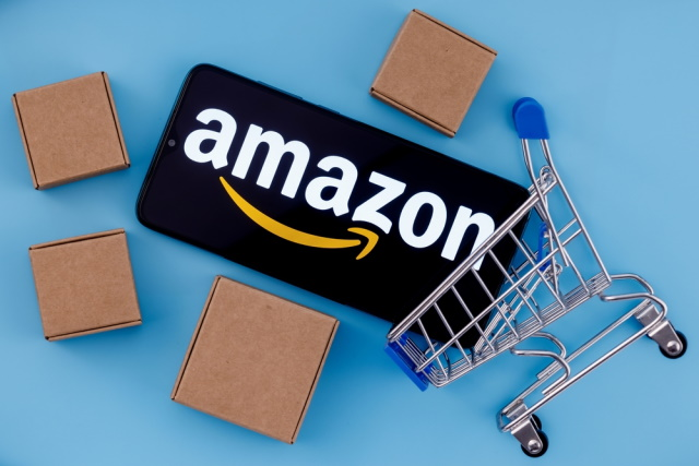 Amazon trolley and boxes