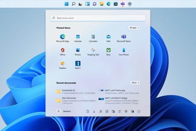 Windows 11 top taskbar