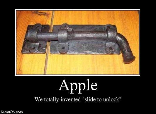 Apple slide to lock Apple vs. Samsung vs. Apple