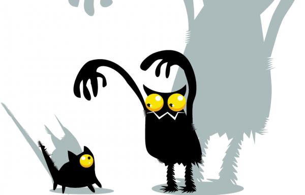 scar scaried spook afraid cat