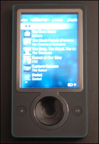 Zune Front View