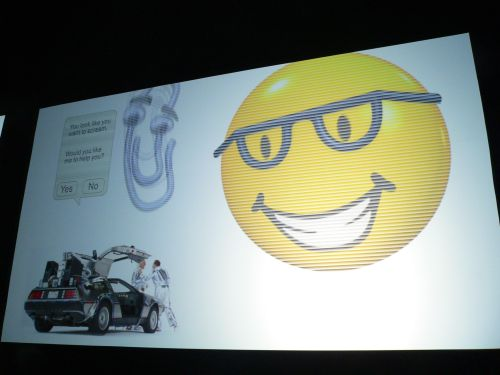 "The Alternate Future in 2012, where humanity is governed by ""Bob"" (not Muglia) and his trusty sidekick, Clippy."