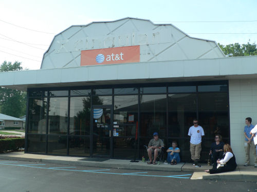 The AT&T phone center store in Columbus, Indiana, at about 5:30 pm on June 29, 2007.