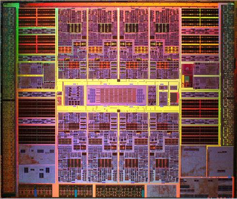 Sun's UltraSPARC T2 processor up close