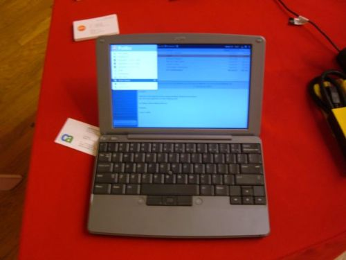 A prototype of Palm's Foleo 'companion' device, which premiered at an electronics show in New York City in May 2007.