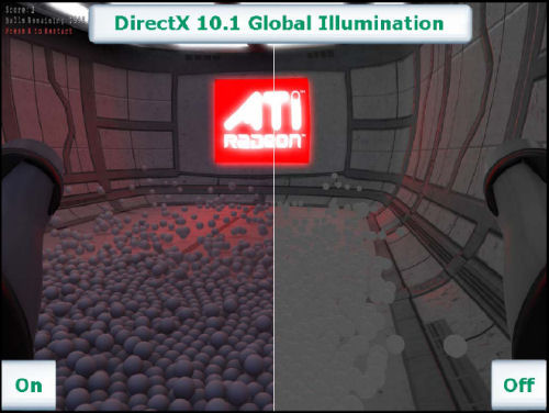 From a demo of Microsoft DirectX 10.1 'global illumination' provided by ATI (plate 2 of 2)