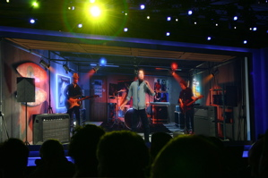 Smashmouth performs in avatar form for Intel keynote