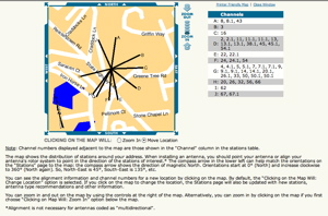 Map of DTV antenna reception Dtv Reception Maps on