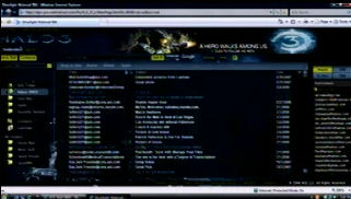 AOL Mail using Silverlight 2 Beta 1 and a Halo 3 motif