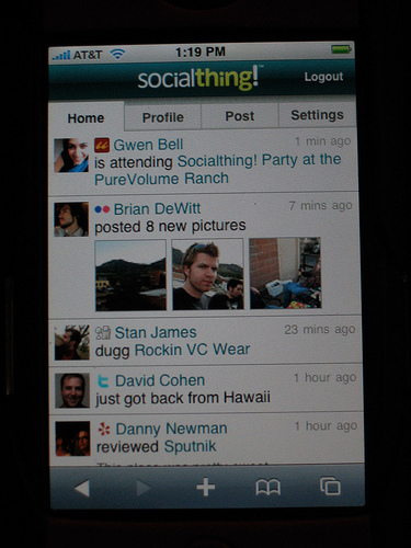 Socialthing! on the iPhone
