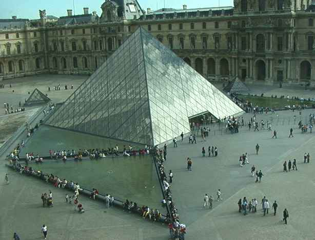 Glass Pyramid at the Louvre entrance