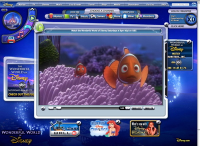 Disney's movie viewer
