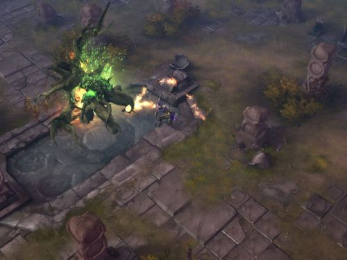 Screenshot from the forthcoming Diablo III