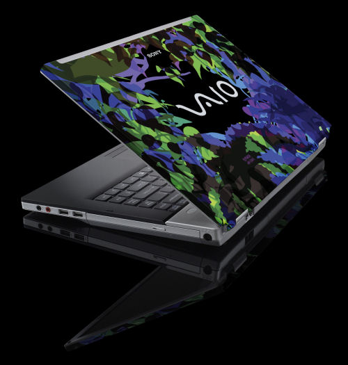 One of Sony's 'Graphic Splash' designs for its FW-series notebooks, this one called 'Grow.'